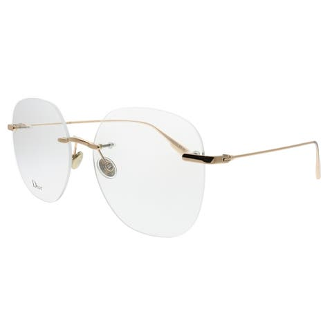 Dior Rimless DiorStellaireo 6 DDB Unisex Gold Copper Frame Eyeglasses