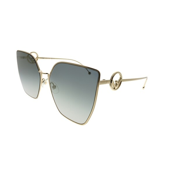 d9bda7ee10f8 Shop Fendi Cat-Eye FF 0323 S F Is Fendi FT3 FQ Women Grey Gold Frame ...
