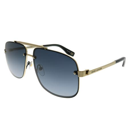 Marc Jacobs Aviator Marc 318/S 2M2 9O Unisex Black Gold Frame Dark Grey Gradient Lens Sunglasses
