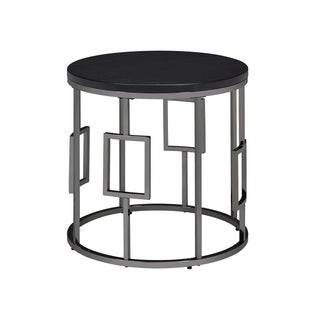 Picket House Furnishings Kendall Round Metal/Wood-top End Table