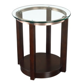 Picket House Furnishings Benton Espresso Wood/Glass End Table