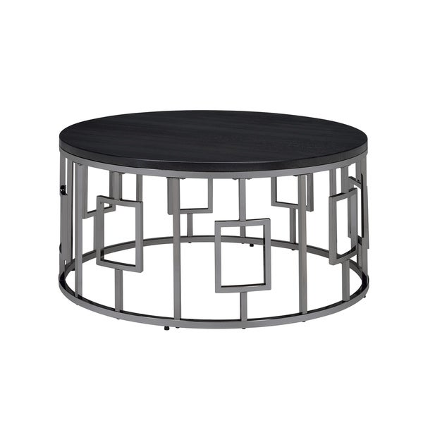 Modern Black Coffee Table For Sale: Shop Picket House Furnishings Kendall Black Metal Round