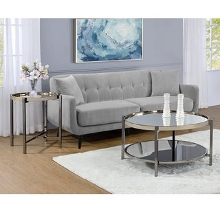 Picket House Furnishings Monaco Chrome-finished Metal/Glass Occasional Coffee Table & End Table Set