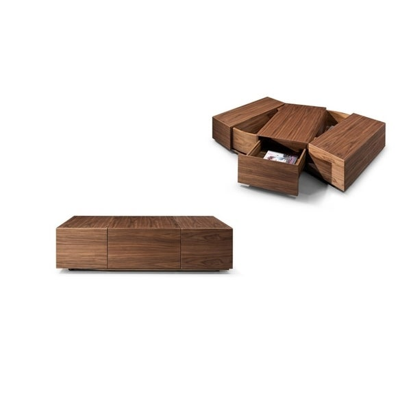 Modrest Leslie Modern Walnut Coffee Table