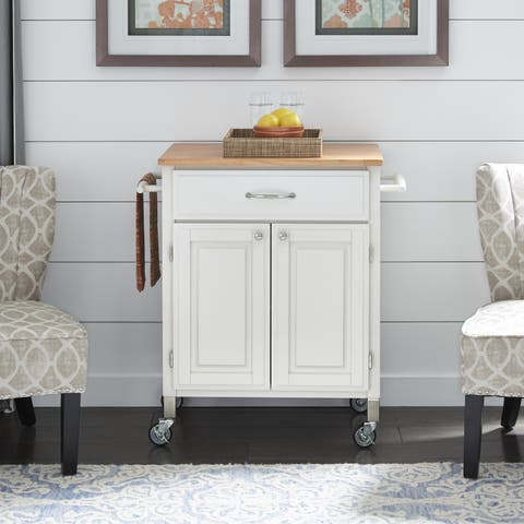 White Dolly Madison Pre and Serve Cart