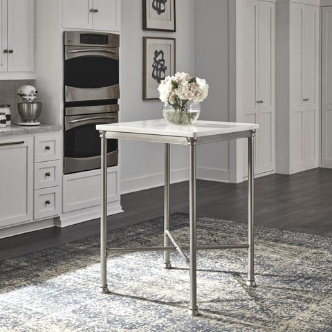 Orleans Marble Finished Quartz Top Bar Table