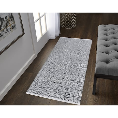 The Curated Nomad Thornton Cotton Flatweave Runner - 2' x 5'