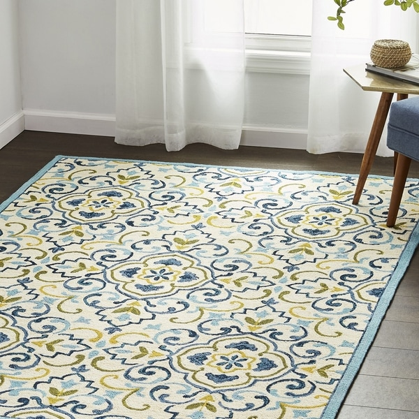 Copper Grove Mozyr Hand-hooked Area Rug - 5' x 7'6