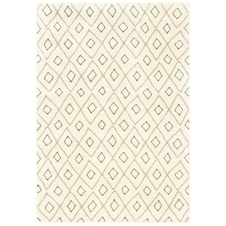 "Tribal Lattice Ivory/ Sand Area Rug - 7'10"" x 10'"