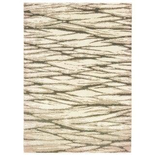"Organic Layers Ivory/ Sand Area Rug - 7'10"" x 10'"