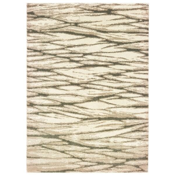 "Organic Layers Ivory/ Sand Area Rug - 6'7"" x 9'2"""