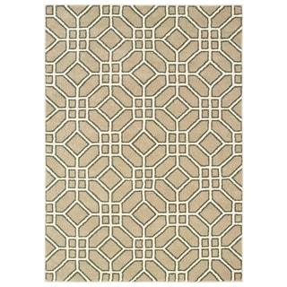 Geometric Tiles Sand/ Ivory Area Rug - 2' x 3'