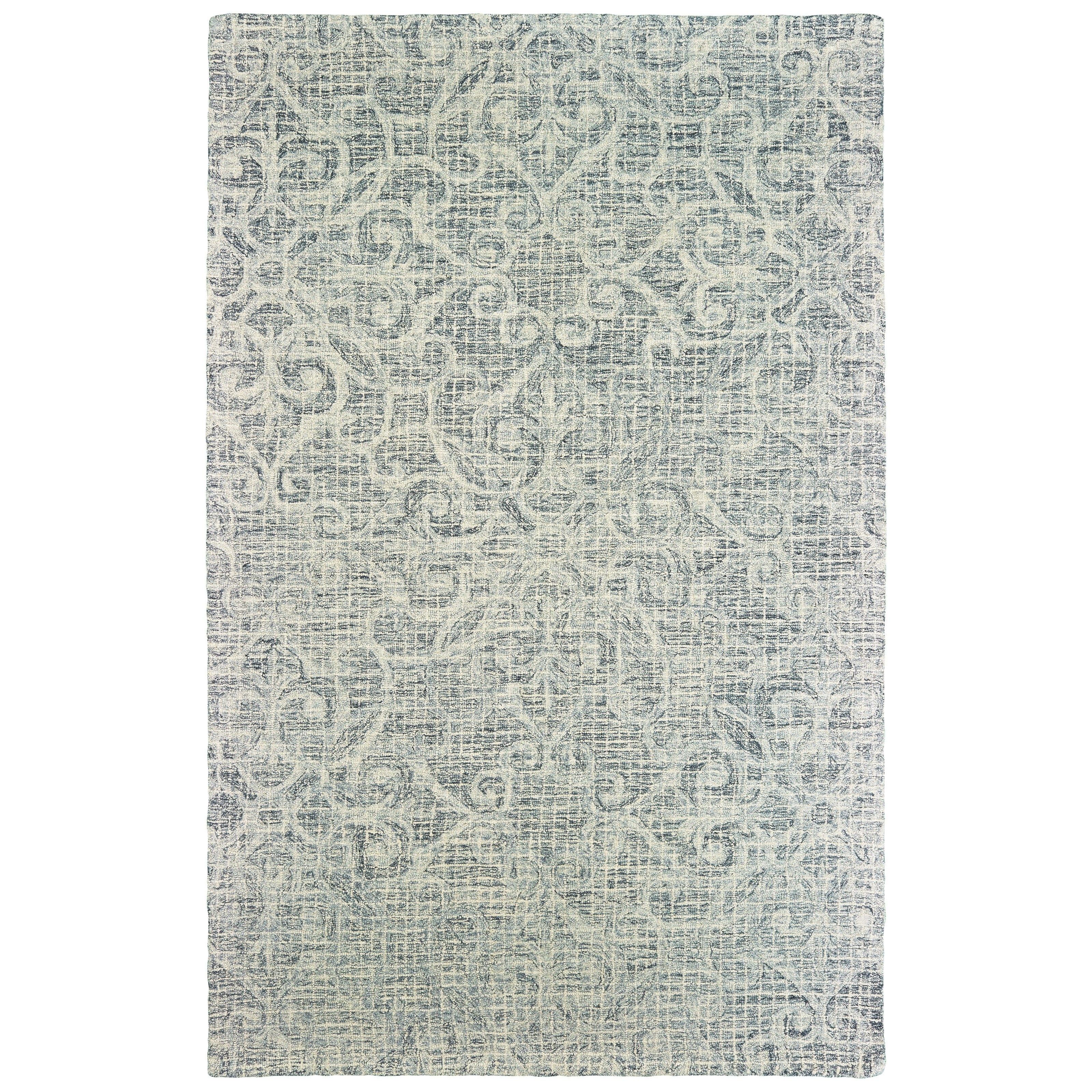 Shop Faded Floral Lattice Hand Tufted Wool Grey Ivory Area Rug 5 X 8 On Sale Free Shipping Today Overstock 23603441