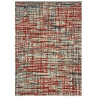 "Carbon Loft Fogerty Grey and Red Area Rug - 7'10"" x 10'10"""