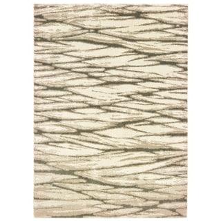 "Organic Layers Ivory/ Sand Area Rug - 5'3"" x 7'3"""
