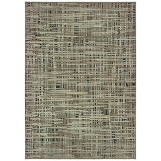 Carbon Loft Cantwell Grey and Green Area Rug - 2' x 3'