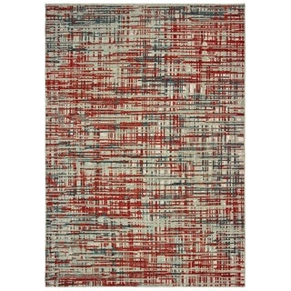 """Carbon Loft Fogerty Grey and Red Area Rug - 6'7"""" x 9'6"""""""