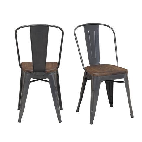 Picket House Furnishings Davis Industrial Metal Chair Set