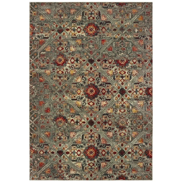 Shop Distressed Tribal Grey Multi Area Rug 9 10 Quot X 12