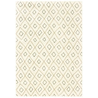 Tribal Lattice Ivory/ Sand Area Rug - 2' x 3'