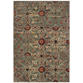 """Carbon Loft LeFeuvre Distressed Tribal Grey and Multi Area Rug - 6'7"""" x 9'6"""""""