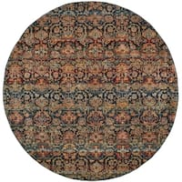 """Floral Ombre Multi/ Blue Rug - 7'10"""" Round"""