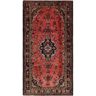 Hand Knotted Khamseh Semi Antique Wool Area Rug - 5' x 9' 7