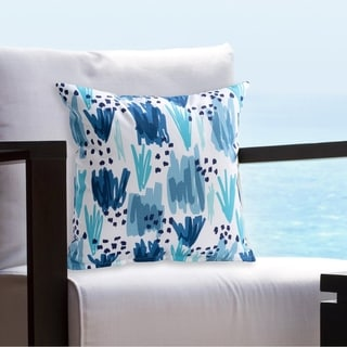 Siscovers Ocean Prime Aqua Indoor - Outdoor Throw Pillow