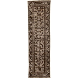 Hand Knotted Khotan Ziegler Wool Runner Rug - 2' 10 x 9' 8