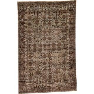 Hand Knotted Khotan Ziegler Wool Area Rug - 5' 8 x 9'