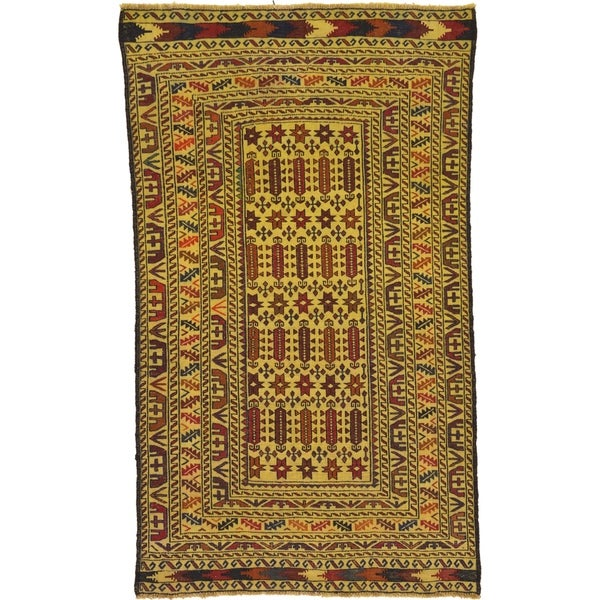 Shop Hand Woven Kilim Afghan Wool Area Rug