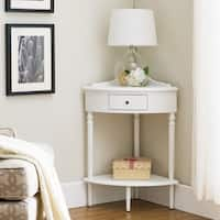 Cottage White Corner Table Stand