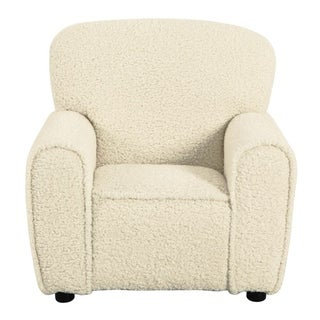 Link to HomePop Kids Club Chair - Faux Sheepskin Fur Natural Similar Items in Kids Accent Chairs