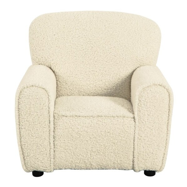 HomePop Kids Club Chair - Faux Sheepskin Fur Natural. Opens flyout.
