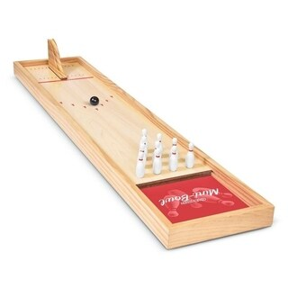 GoSports Mini Wooden Tabletop Bowling Game Set for Kids & Adults