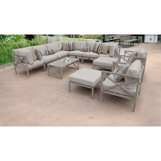 Carlisle 13 Piece Outdoor Wicker Patio Furniture Set 13a