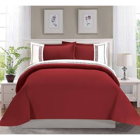 Elegant Comfort Luxury 3-Piece Embroidered Duvet Cover Set