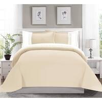 Elegant Comfort Luxury Super-Soft 3-Piece Greek Embroidered Duvet Cover Set