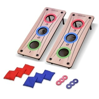 GoSports Multi 2-in-1 Bean Bag Toss & Washer Toss Combo Outdoor Game - Fun for Kids & Adults