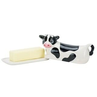 Cow Lidded Butter Dish