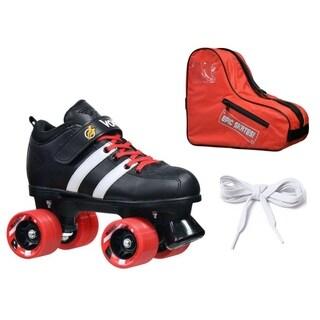 Custom Riedell Red Volt Quad Derby Speed Roller Skate Bundle