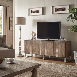 Nadine Wood and Stainless-Steel TV Console and Server by iNSPIRE Q Artisan