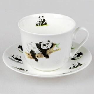 Roy Kirkham Breakfast Cups & Saucers - Panda (Set of 2)
