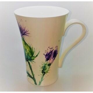 Roy Kirkham Latte Mugs (Set of 6) - Thistles 600ml