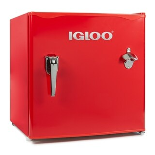 Igloo IRF16RSRD 1.6-Cu. Ft. Classic Refrigerator Freezer, Red