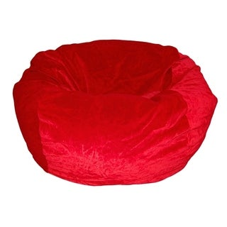 Ahh! Products - 36 Inch Wide Washable Bean Bag Chair - Microsuede Velvet Red