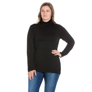 24/7 Comfort Apparel Women's Plus Size Long Sleeve Turtleneck