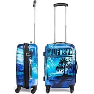"Maui and Sons Cali Expandable Hardside Spinner Luggage, TSA lock, 20"""