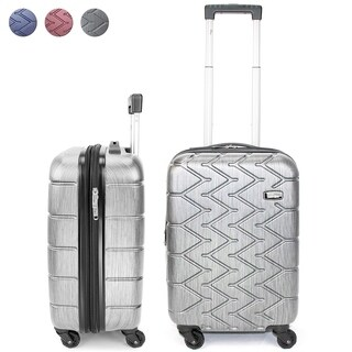 Miami CarryOn Rugged Polycarbonate Spinner Luggage, TSA Lock, 20""