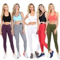 Women'S Active Wear Leggings W/ Hidden Waistband Pocket